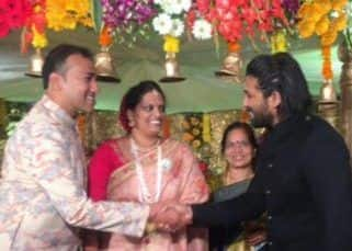 SPOTTED! Allu Arjun attends a wedding in his new look for his next with Trivikram Srinivas – view photos