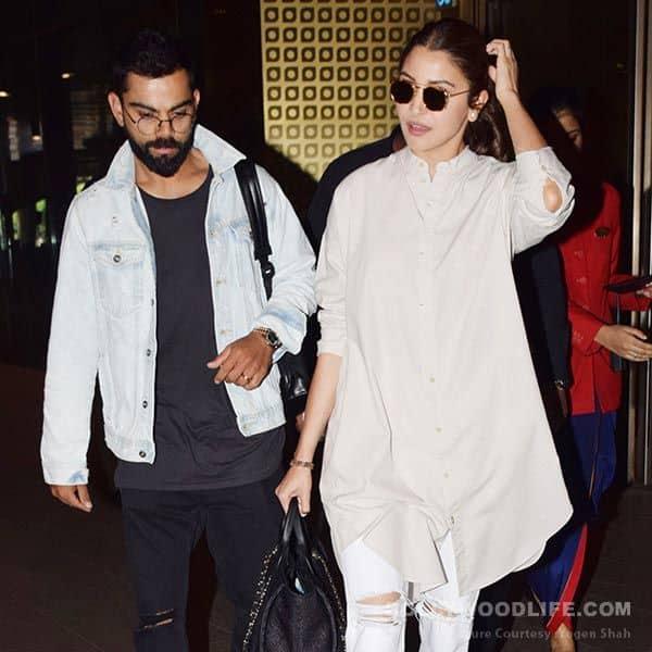 Hq Pics Virat Kohli And Anushka Sharma Return To India