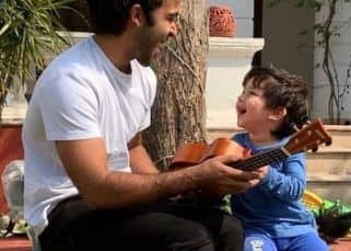 [VIDEO] Taimur learns to play the ukelele we are sure you will be watching the video on loop, just like us!
