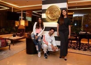 Mira Rajput and Shahid Kapoor strike a pose with Gauri Khan as they go home shopping