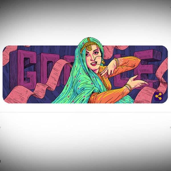 Madhubala's gorgeous Google Doodle on her 86th birth