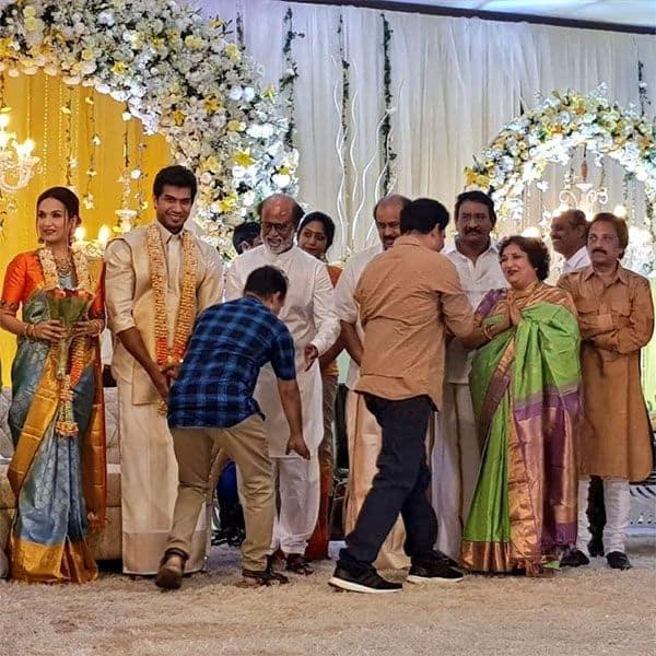 पिता रजनीकांत और मां लता भी दिखाई दिए