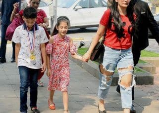 Maanayata Dutt takes kids Iqra and Shahraan for a Sunday lunch and we guess it's a celebratory one