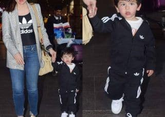 [IN PICS] Kareena Kapoor Khan twinning in black loungewear with Taimur at the airport deserves to be a fashion moment right now!