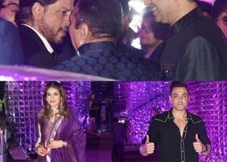 [IN PICS] Shah Rukh Khan, Raveena Tandon, Bobby Deol and others graced Azhar Morani's sangeet