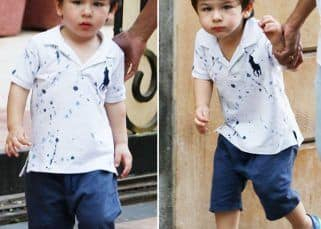After a fam vacay at the Pataudi palace, Taimur is back to posing for the paparazzi - view HQ pics and video