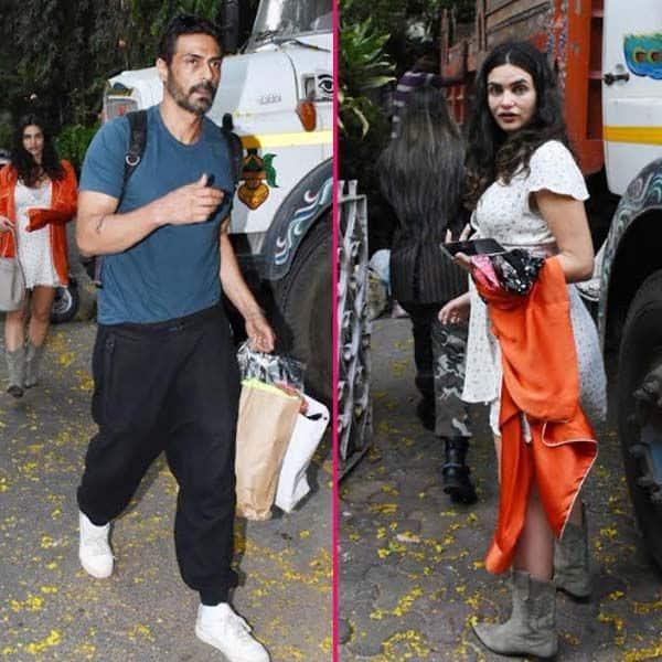 गर्लफ्रेंड के साथ बांद्रा में नजर आए अर्जुन