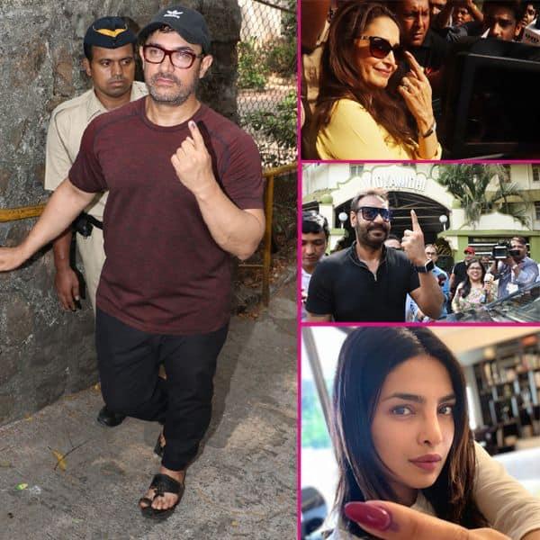 मुंबई में बॉलीवुड सितारों ने डाला मतदान