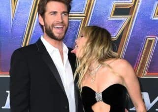 Avengers: Endgame world premiere: When Miley Cyrus almost LICKED Liam Hemsworth - watch video