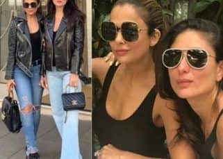 Kareena Kapoor Khan and Amrita Arora twinning in leather jackets and denims during their London trip is how you tour with your BFF – view pics