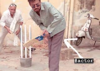 Angrezi Medium diaries: Irrfan Khan defends like a pro batsman while playing gully cricket in this BTS picture