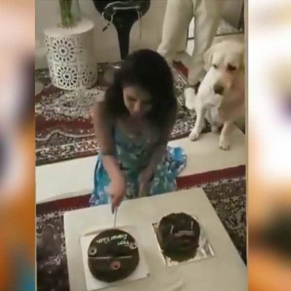 जेनिफर ने काटा केक