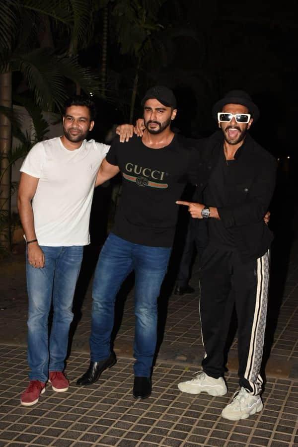 Ranveer Singh   ali Abbas Zafar   Arjun Kapoor   India's Most Wanted screening