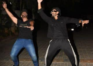 When Bala met Bikram! Arjun Kapoor and Ranveer Singh dance to the tunes of Tune Maari Entriyaan at the screening of India's Most Wanted