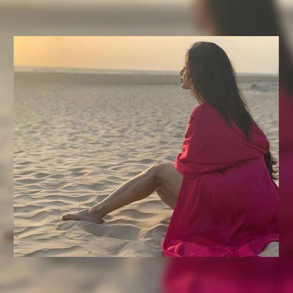रेत पर आराम करती दिखीं