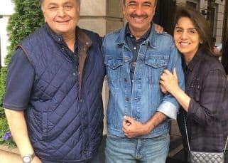 Rishi Kapoor-Neetu Kapoor spend hours discussing movies with Rajkumar Hirani in New York - view pic