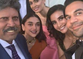 Rajkummar Rao's picture with Kapil Dev, Patralekha, Diana Penty, Aditi Rao Hydari is unmissable - view post