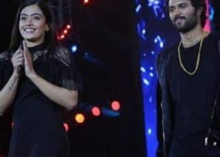 Vijay Deverakonda and Rashmika Mandanna twinned in black and made the cutest entry at the Zee Mahotsavam 2019