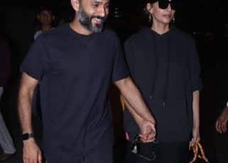 Sonam Kapoor and Anand Ahuja twin in black as they return to Mumbai  after their Japan rendezvous