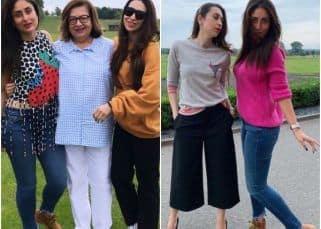 Karisma Kapoor celebrates her 45th birthday with sissy Kareena Kapoor Khan and mom Babita in style! - view pics