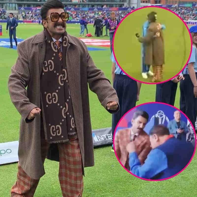 रणवीर सिंह ने भारत-पाकिस्तान मैच पर किया खूब धमाल, सामने आई तस्वीरें