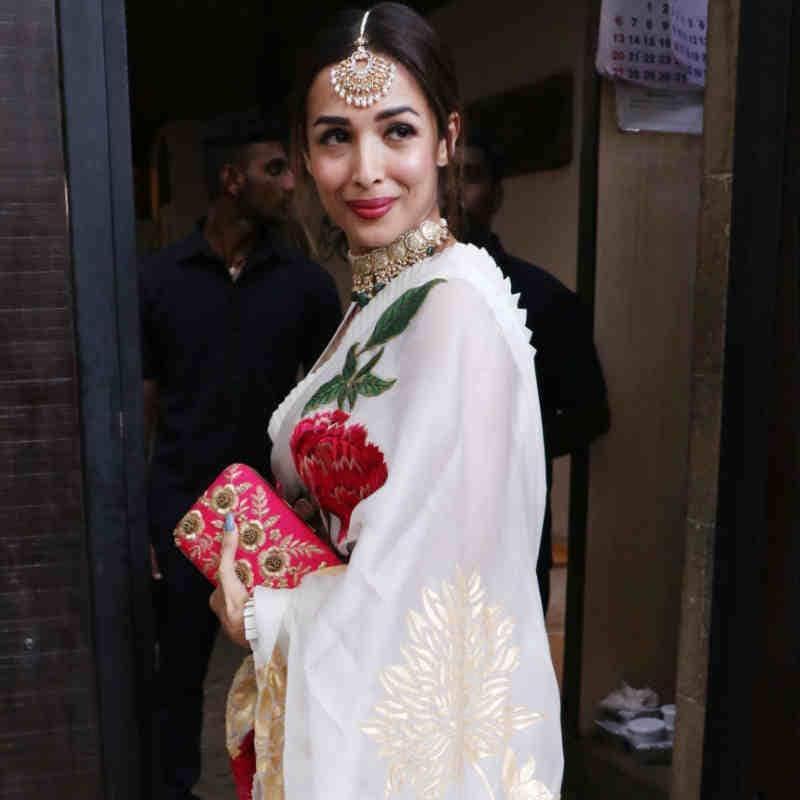 मलाइका अरोड़ा ने पहनी खूबसूरत साड़ी