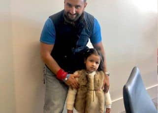 Saif Ali Khan and Ziva Singh Dhoni come together for the perfect click after the INDvsPAK match
