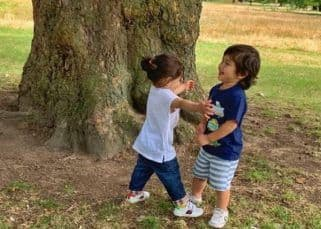 Aww! Inaaya runs towards cousin Taimur to give him a tight hug - view pic