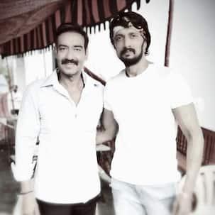 Here's what happened when 'Singham' Ajay Devgn met Pailwaan Kichcha Sudeepa - view pic