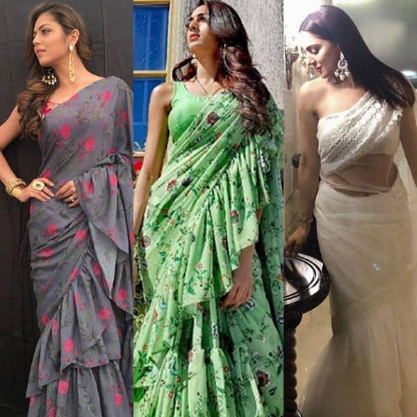 Erica Fernandes, Drashti Dhami, Shraddha Arya - who rocked the ruffled saree look? vote now