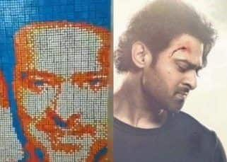 WOW! A die-hard fan of Prabhas builds a picture of the Saaho star using Rubik's cubes