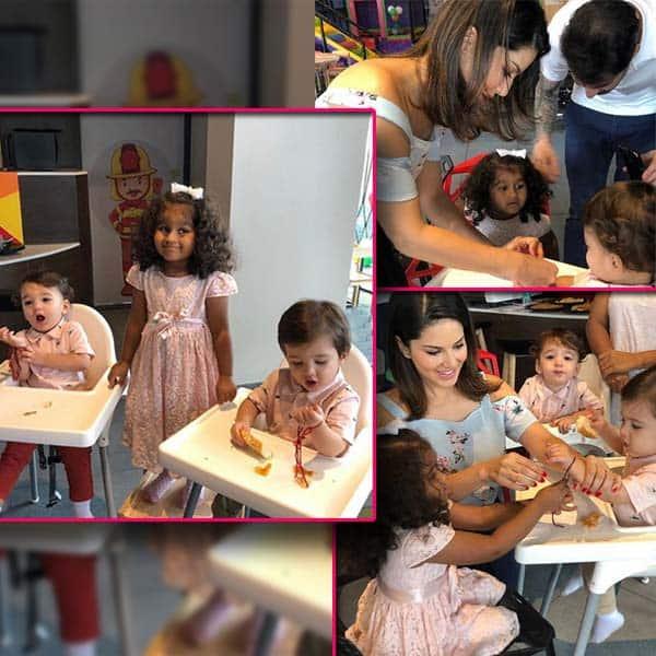 Sunny Leone ने बच्चों के साथ मनाई राखी