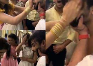 Nach Baliye 9: Madhurima Tuli smears Vishal Aditya Singh's face with cake as the team celebrates her birthday - watch video