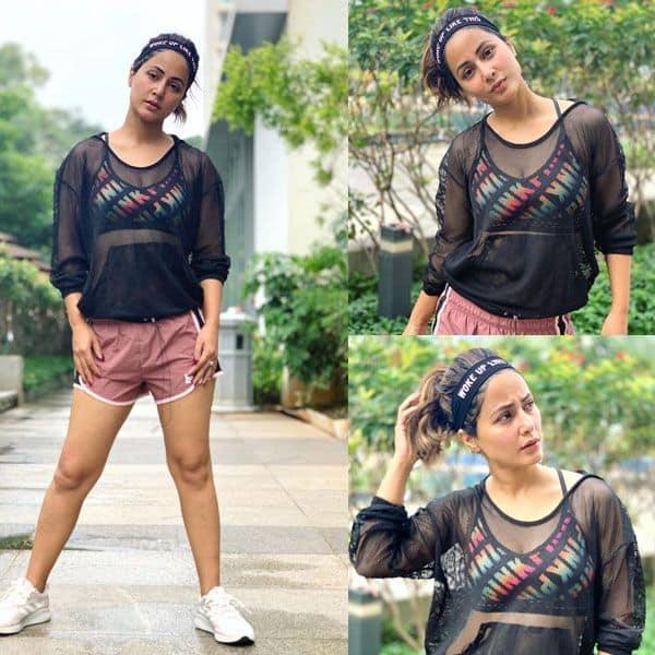 स्पोर्ट्स अवतार में नजर आई Hina Khan