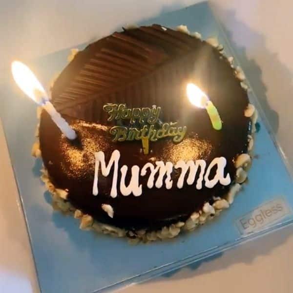 कुछ ऐसा था हिना की मां के जन्मदिन का केक