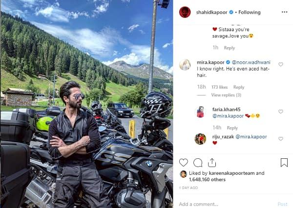 Shahid Kapoor | Mira Rajput | Mira Rajput comment |