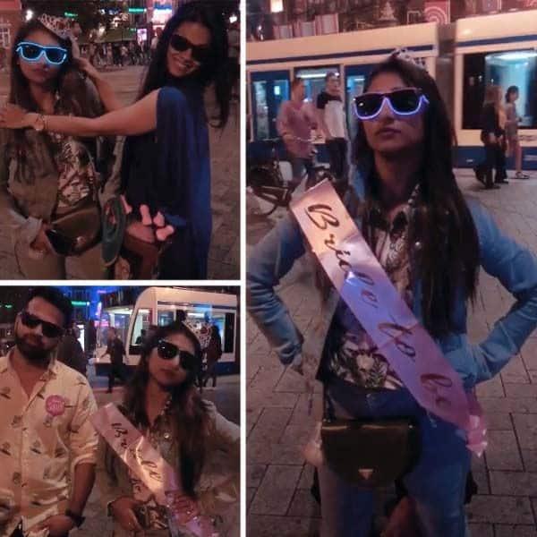 नीदरलैंड में मोहिना ने मनाई बैचरलेट पार्टी