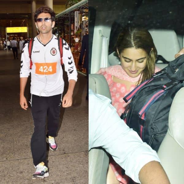 Kartik Aaryan को रिसीव करने एयरपोर्ट पहुंची Sara