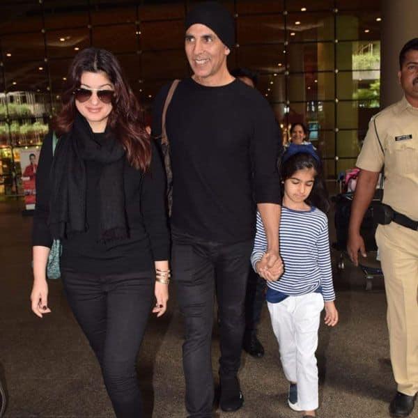 पत्नी Twinkle Khanna और बेटी Nitara Bhatia के साथ भारत लौटे Akshay Kumar