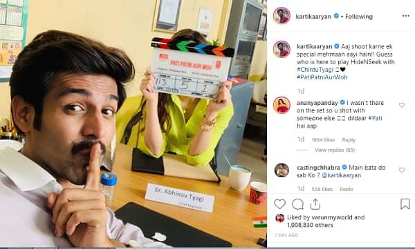 Ananya Panday | Kartik Aaryan | Pati Patni Aur Woh  |