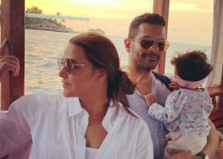 Angad Bedi and wife Neha Dhupia pen adorable notes for daughter Mehr as she turns 10 months old