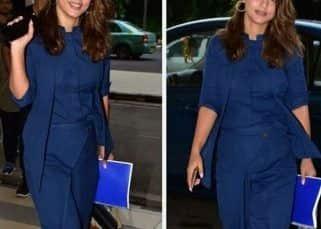 Cannes के बाद अब एयरपोर्ट लुक में भी हसीनाओं को टफ कॉम्पीटिशन देने वाली है Hina Khan, बेहद स्टाइलिश रॉयल ब्लू सूट में मारी एंट्री