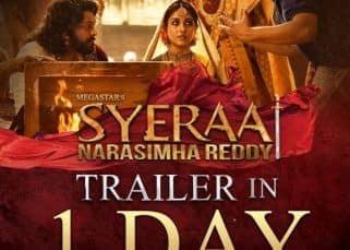 Sye Raa Narasimha Reddy trailer: Makers drop a new countdown poster featuring Chiranjeevi and Nayanthara