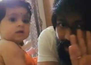 Cuteness alert! KGF actor Yash's daughter Ayra says Hi to the world and it is winning hearts - watch video