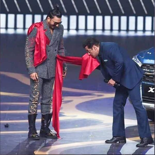 जब रणवीर सिंह के कपड़ों से नाक पूछते नजर आए Salman khan