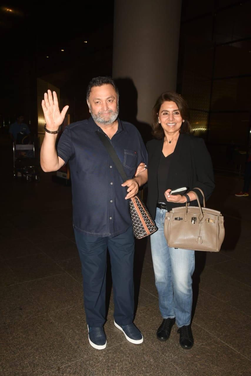 मुंबई वापस लौटे Rishi Kapoor