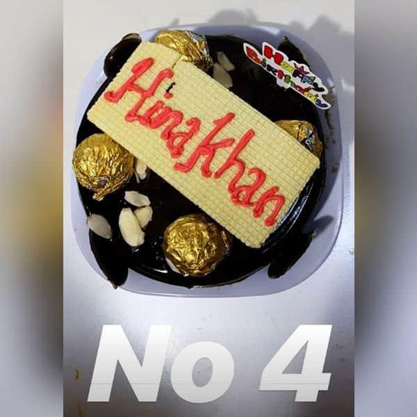 इतने सारे केक देखकर चकराई Hina Khan