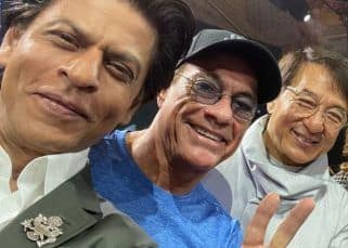 Shah Rukh Khan has a fanboy moment as he meets his 'heroes' Jackie Chan and Jean Claude Van Damme