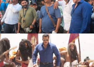 Dabangg 3: Watch how the crew loses their calm as Salman Khan moves his butt in making of Hud Hud song