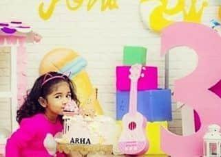 Allu Arjun's daughter Arha turns 3; Sneha Reddy posts adorable clicks